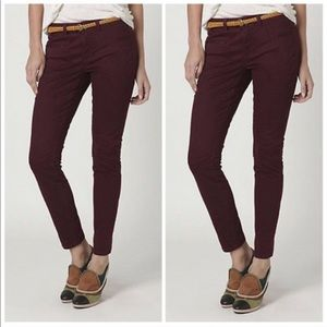 Antho Daughters of the Liberation Maroon Skinnies